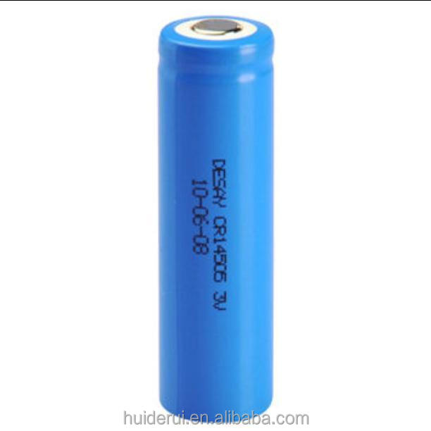 High quality 3V 1600mAh CR14505 AA size Li/MnO2 lithium primary Battery