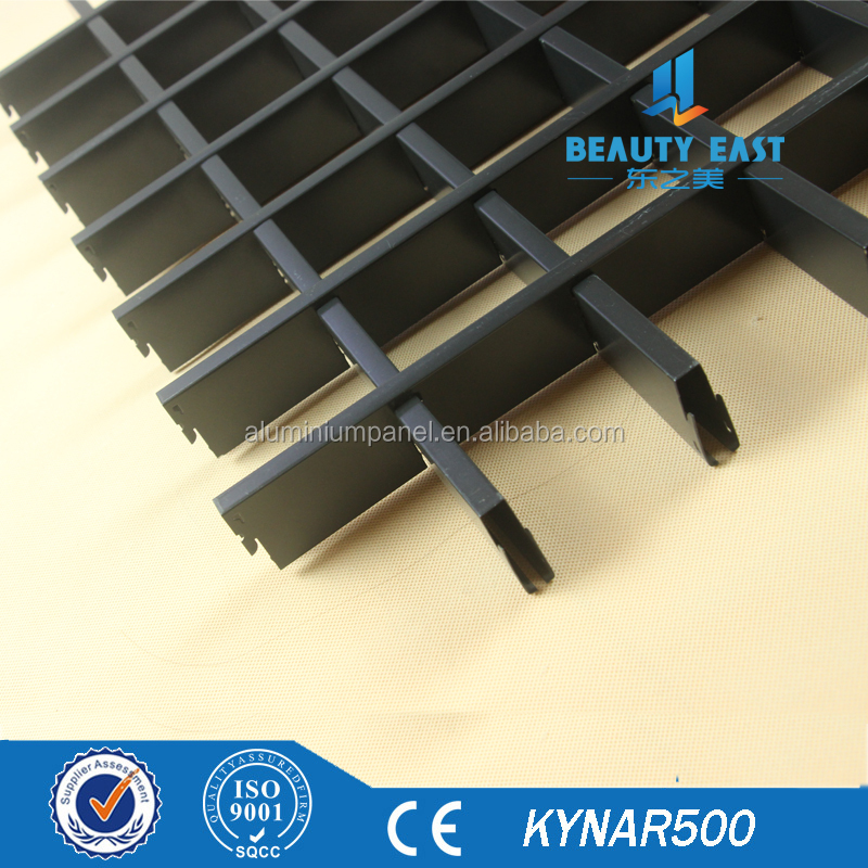 Open Grid Ceiling Tiles aluminum ceiling systems for Interior Wall Decorative Panels