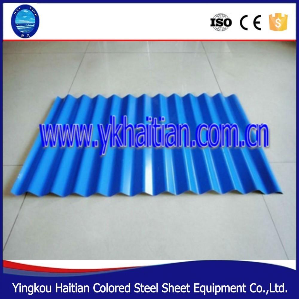 Precio competitivo color placa de acero material metal teja-Tejas ...