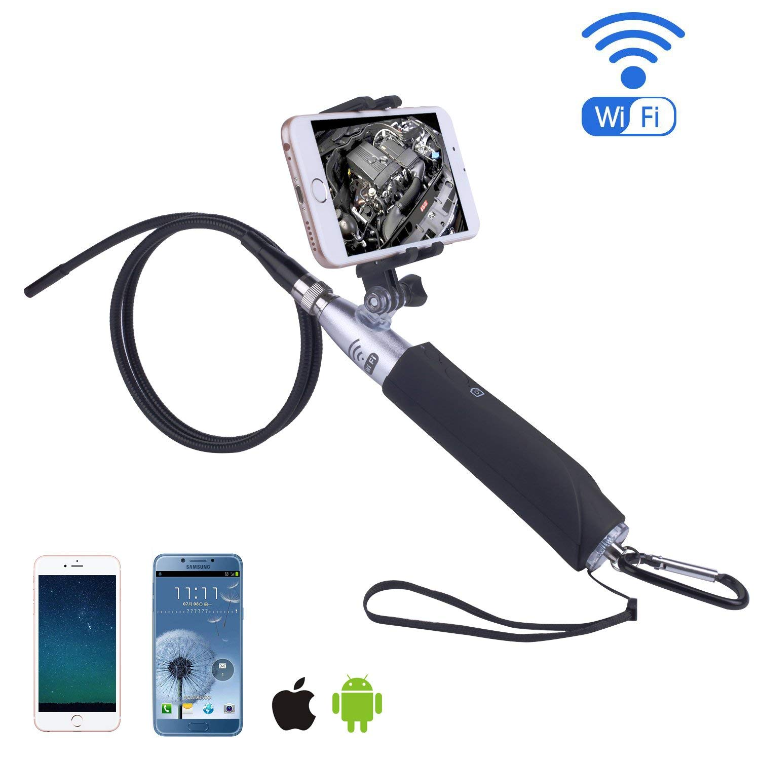 cbcaf74906f03 Get Quotations · Ilihome Handheld Wifi Endoscope Camera
