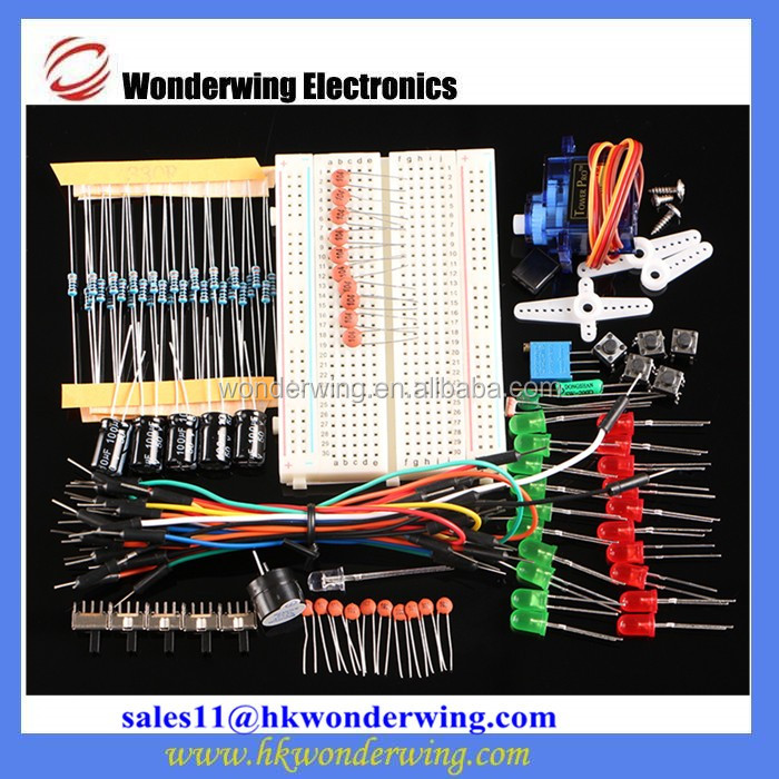 Electronic components kit Resistor capacitor breadboard Electrical resistance for arduino package suite E1 starter kits