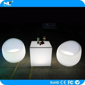 Glow Light Led Sofa Outdoor Furniture Fancy Luminous Up Chair
