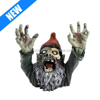 custom decorative hand painted garden zombie gnome