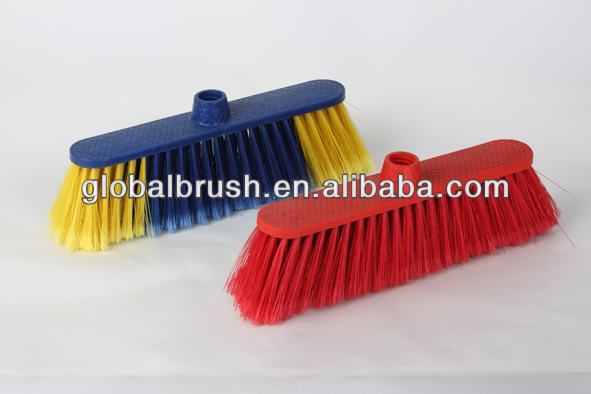 manufacture Good quality and hot-selling plastic push broom,vassoura,balai #0577N
