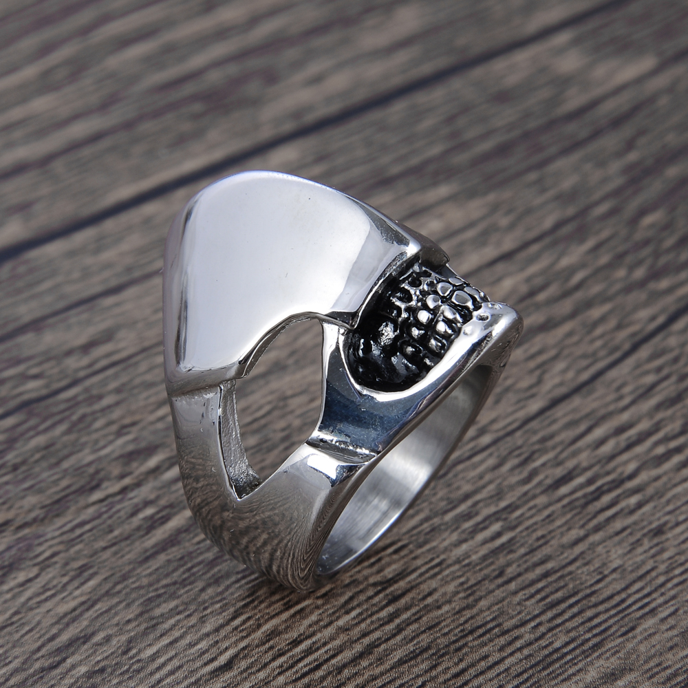 Punctual Modyle Fashion Mens Ring The Punk Rock Accessories Stainless Steel Black Chain Spinner Rings For Men 3 Color Jewelry & Accessories