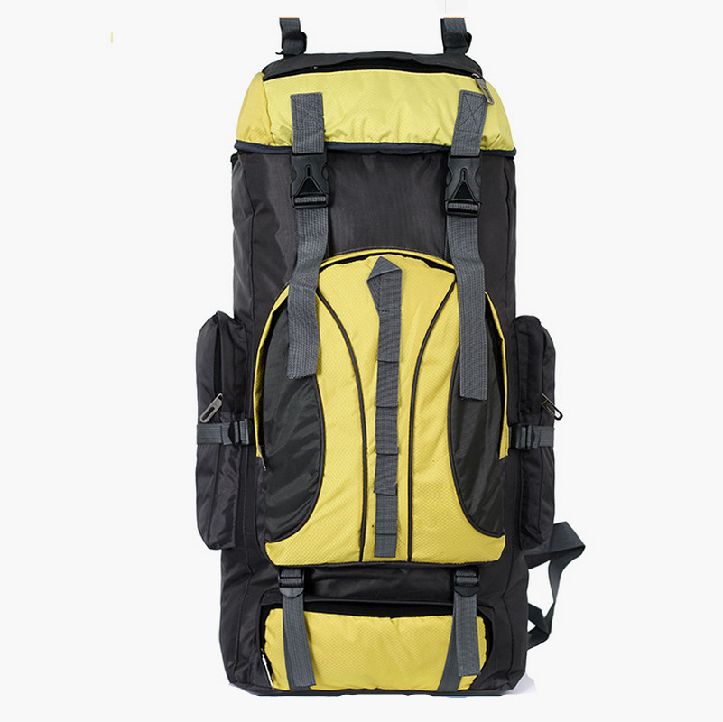 New 2015 travel rucksack Nylon backpack outdoor spiking mountaineering bag sports camping hiking backpack for woman and man 60L