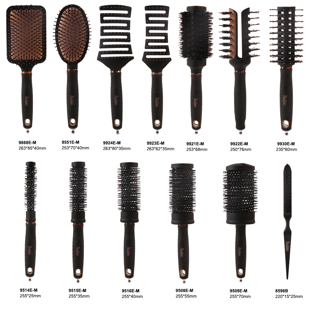 Raffini professional 100% boar bristle teasing  edge hair brush for hair