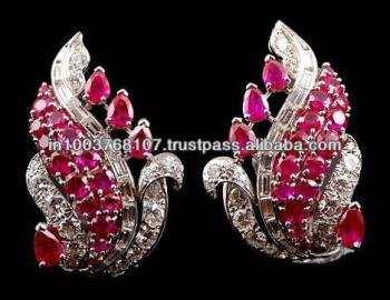 etsy gold or on best the sterling silver deals ruby markolivergems natural shop earrings find in