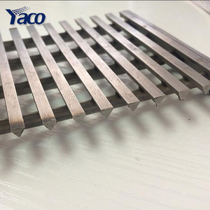 stainless steel curved johnson wedge wire mesh screen/ crimped wire filter mesh for oil filtration price