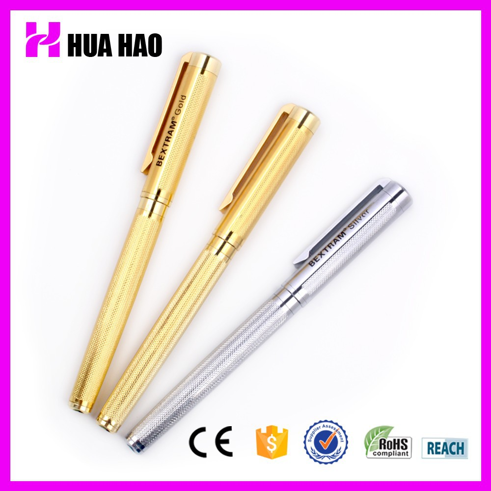 Rose gold barrel metal ball pen style luxury metal gift pen with logo