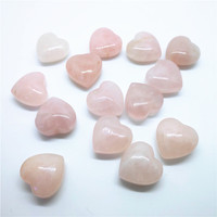 20mm Natural rose quartz Crystal Heart