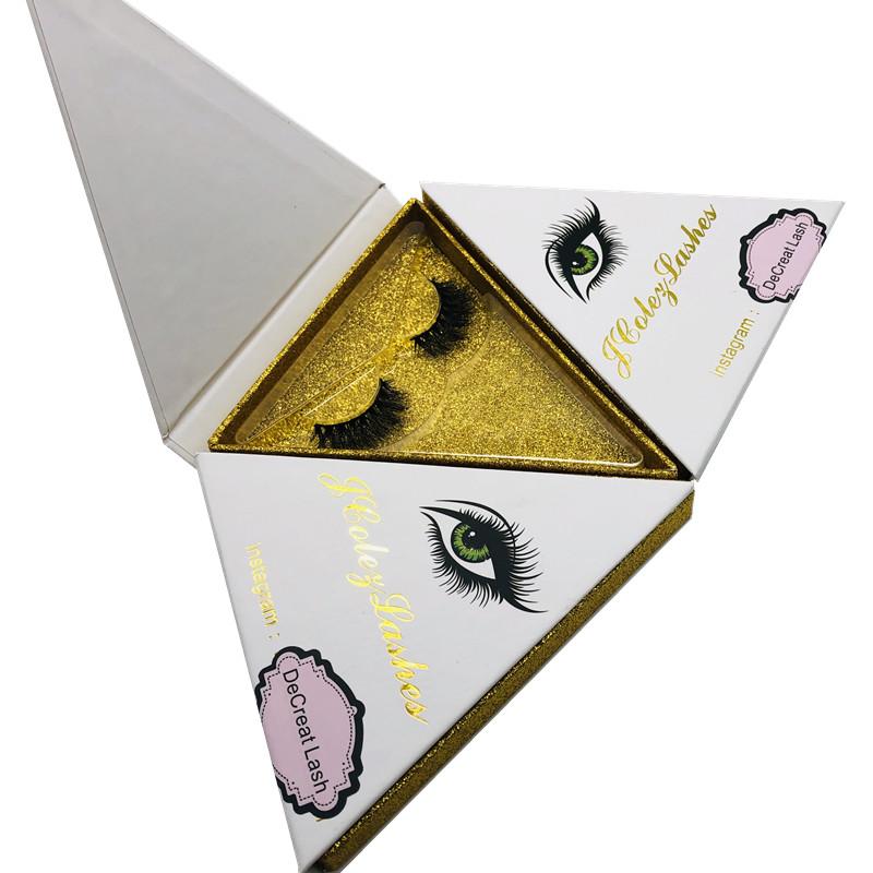 Custom Eyelash Packaging Box Mink Lashes Private Label 3D Mink Eyelashes, Natural black