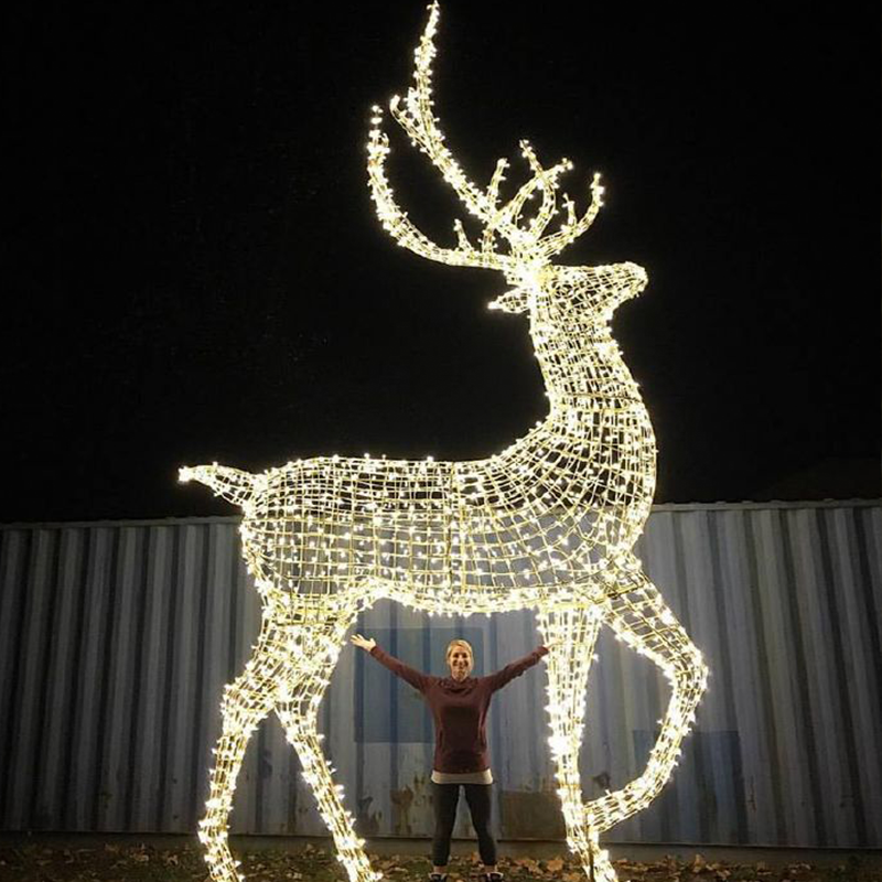 Giant Led Acrylic Reindeer Motif Light For Outdoor Christmas Decoration Zhongshan Buy Giant