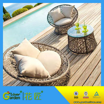Rattan Egg Garden Furniture Egg Shaped Bird Nest Outdoor Rattan Sofa Chair