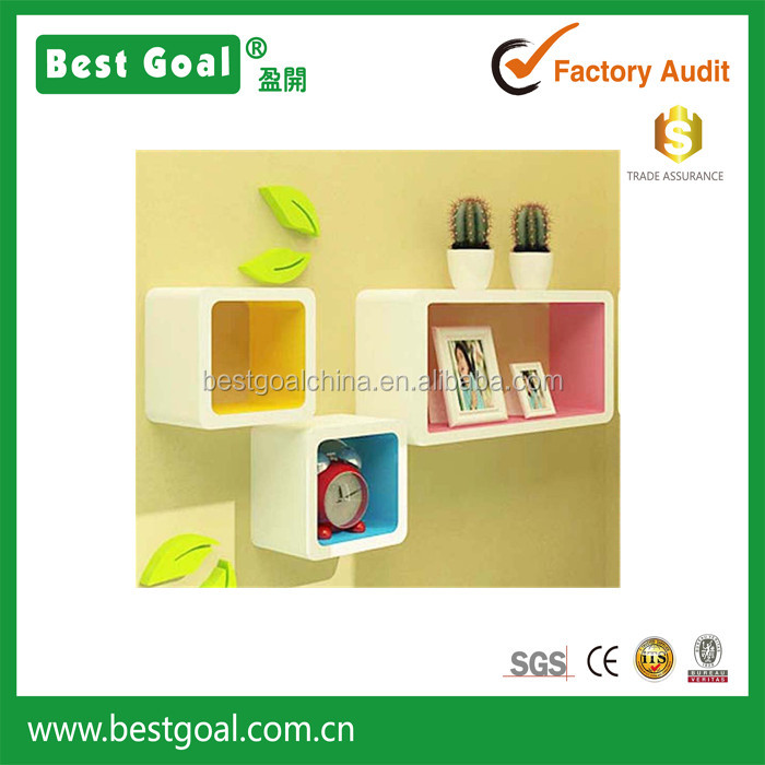 Colorful show case display wooden wall show box Decorative Wall ...