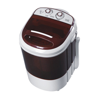 mini semi automatic single tub washing machine/ washer with top transparent window
