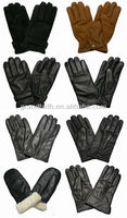 2014 New Product High Quality Winter Warm Mens Leather Gloves And Ladies Leather Gloves