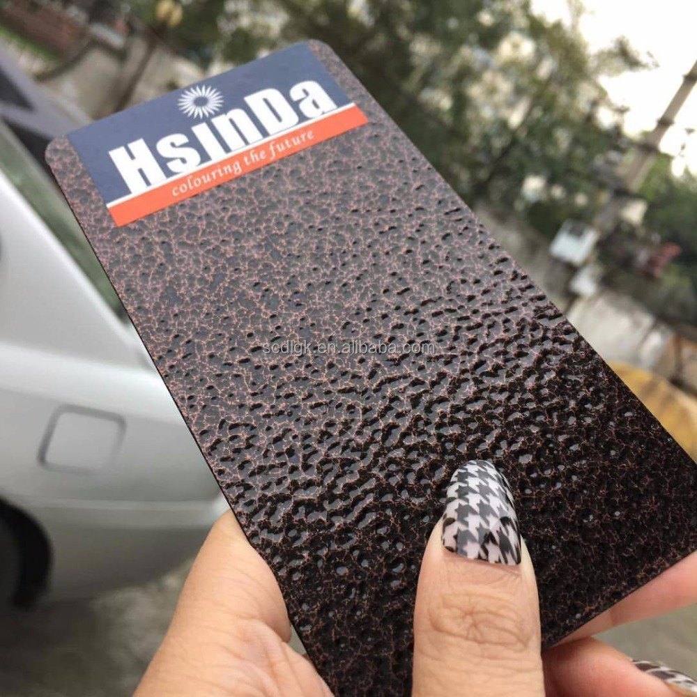Hsinda black hammer wrinkle powder coatings