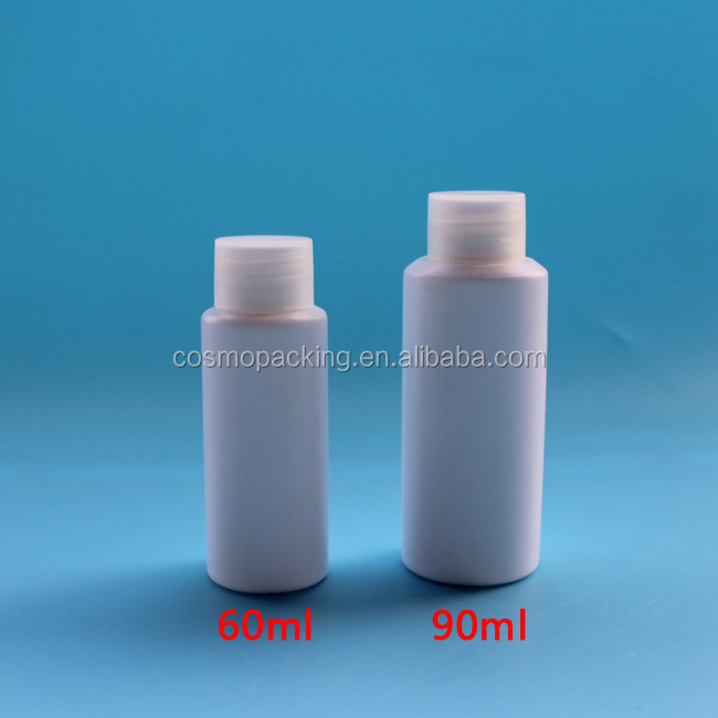 60ml 2OZ empty translucent plastic HDPE pe bottle for cosmetic