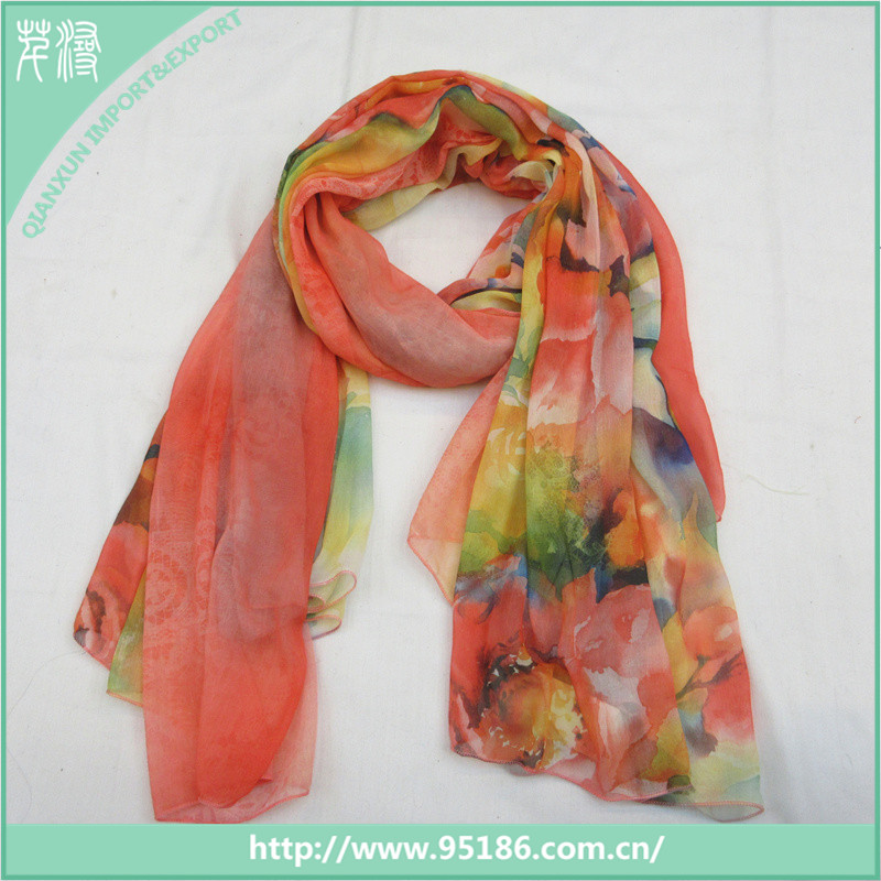Fashion ladies plain voile scarf bulk buy from china