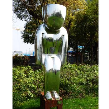 2016 Moderne Grand D Art Abstrait En Acier Inoxydable Statue Humaine En Metal Jardin Sculpture Buy Grande Sculpture De Jardin En Metal Statue