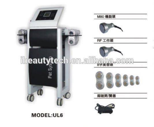 iBeauty:UL6 crystal laser machine with M80 fat cavitation work head