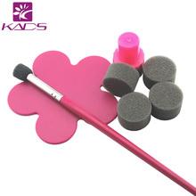 Nail art set 5pcs Sponge Sponge Pen nail Brush Plate Nail Art Tips Design Polish Gel