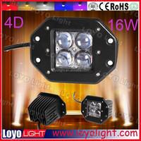4D Automotive Led Work Light 12V 24V Flush Mount Led Work 16w Offroad Lights For ATV Truck motorcycle