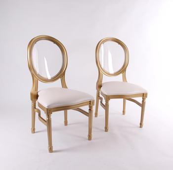 Stackable Classic plastic Gold Royal Dining Louis Chair