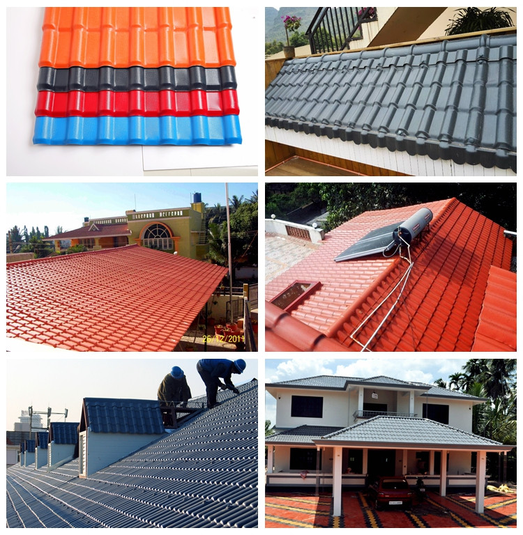 High weather resistant ASA coated synthetic resin roof tile