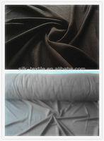 100% silk double brushed velvet fabric