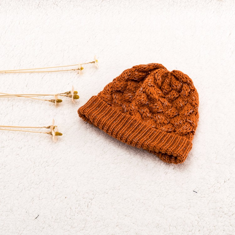 Warm Solid Color Winter Blank pom cuff