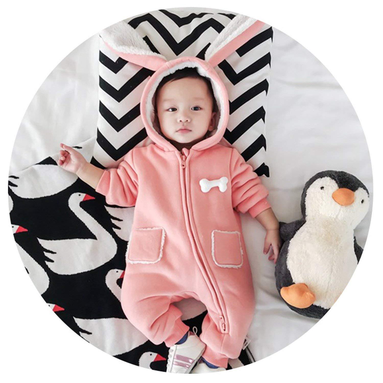 0649cee46815 Get Quotations · Meetloveyou Top Baby Winter Warm Fleece Snowsuit With Hat Newborn  Baby Girl Boy Clothes Cotton Snowsuit