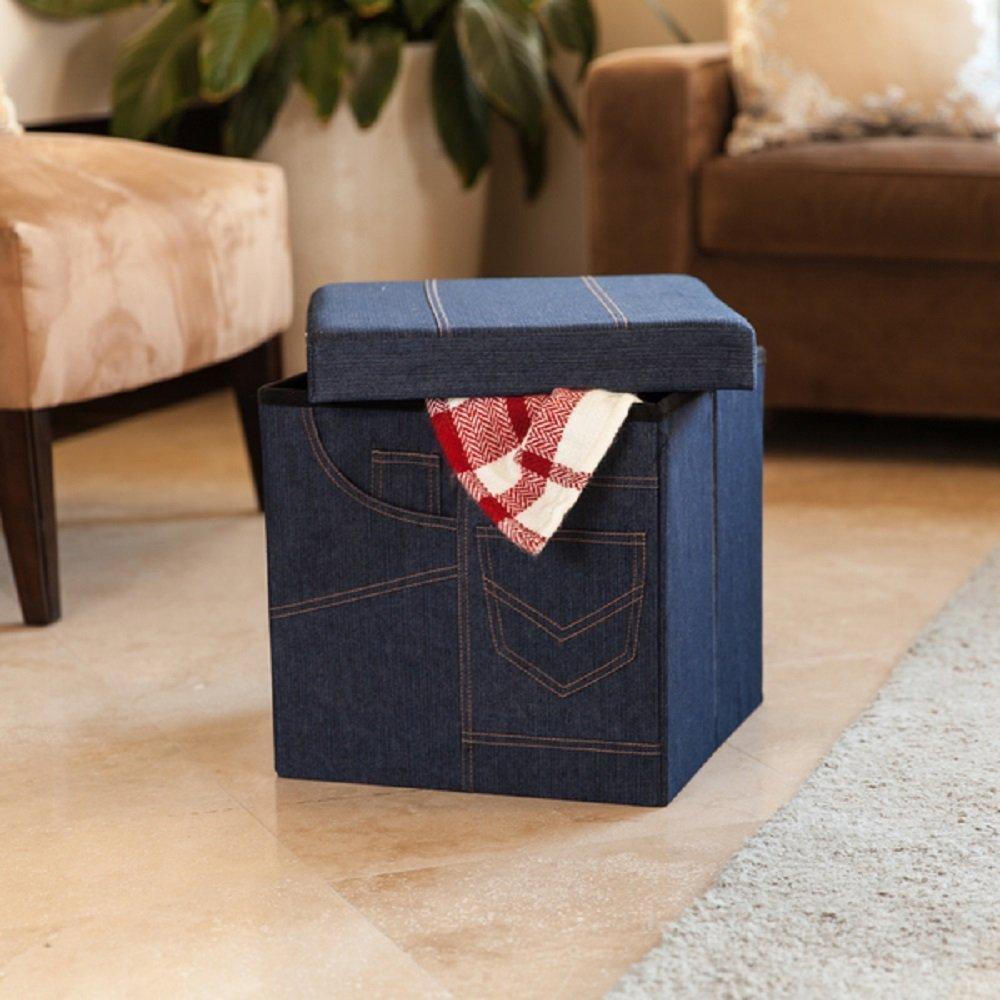 Buy Storage Ottoman Cube Folding Bench Seat Home Furniture Coffee ...