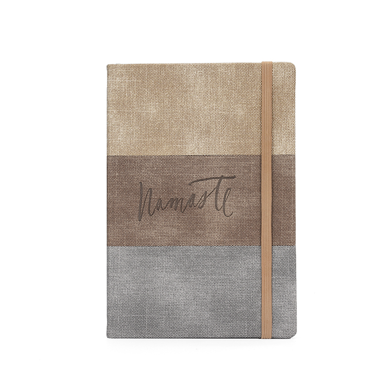 Eco friendly hot sale hardcover PU leather journal notebook with logo embossed
