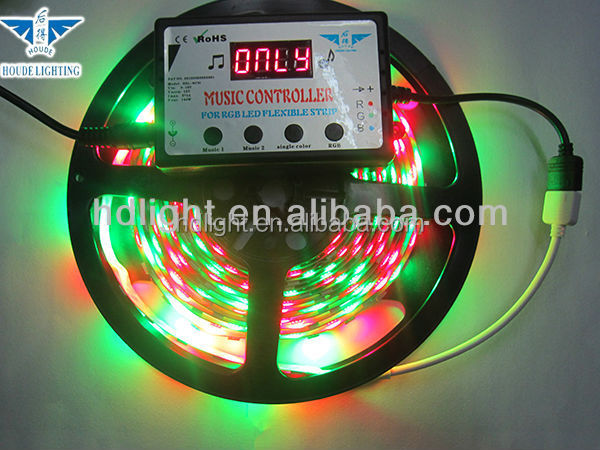 hot sales! dometic color music control 5050 rgb led light strip