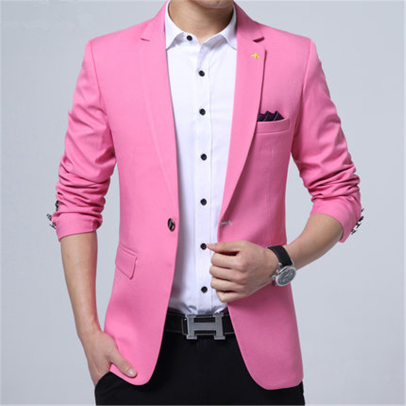 c0ec5d859e43c Popular Mens Pink Blazer-Buy Cheap Mens Pink Blazer Lots From China Mens  Pink Blazer