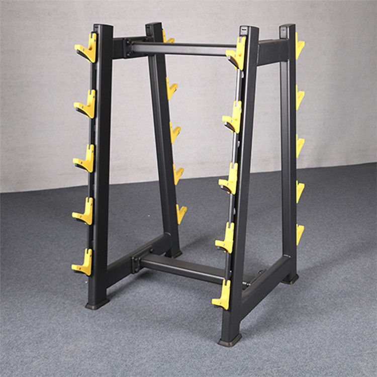 The supply of small barbell bar racks in the fitness equipment factory