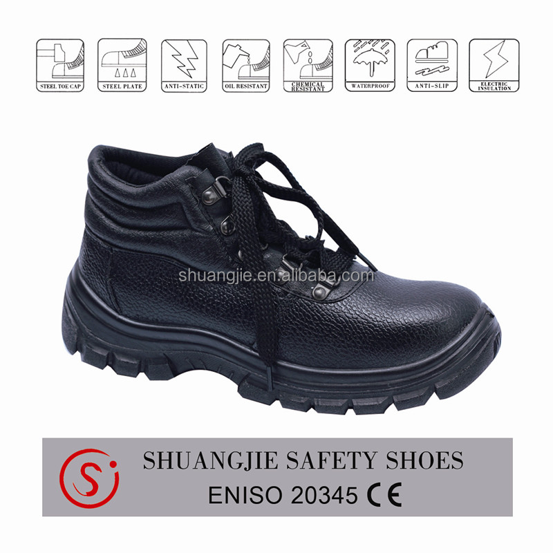 Oil resistant sole safety boots with comfortable BK mesh lining