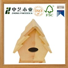 China factory wooden birds nest box packing box for bird nest