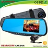 "Hot HD 4.3"" LCD Dual Lens high-end Full HD 6G -Glass Lens car rearview mirror camera dvr"