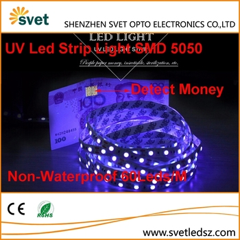 Smd 5050 Non Waterproof Uv 365nm Led Flexible Strip Black Light ...