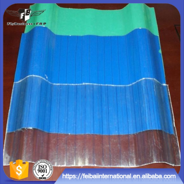 Heat resistant translucent Corrugated FRP high strength 1.5mm-20mm daylighting roof