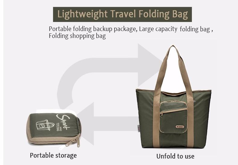 e53e52c40c YESO Casual Women Tote Bags Multifunction Waterproof Nylon Foldable Top-Handle  Bags Portable Lightweight Folding Bag For Ipad. smart30 01. smart30 03