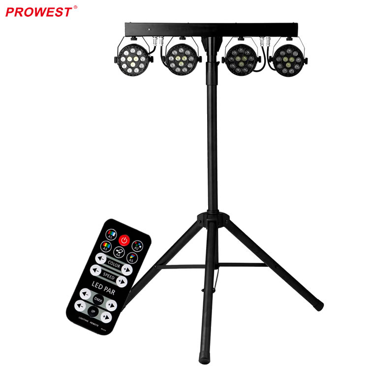 48PCS LED Par Can Sets RGBW LED Bar Stage Lighting with Triangular Stand