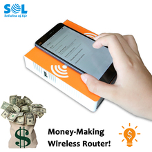 2017 Hot New Products Coin Wireless Repeater Extender WiFi Amplifier for Retail Shop