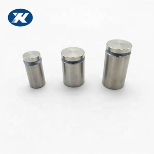 Wholesale price customized stainless steel flat top adjustable mirror screw