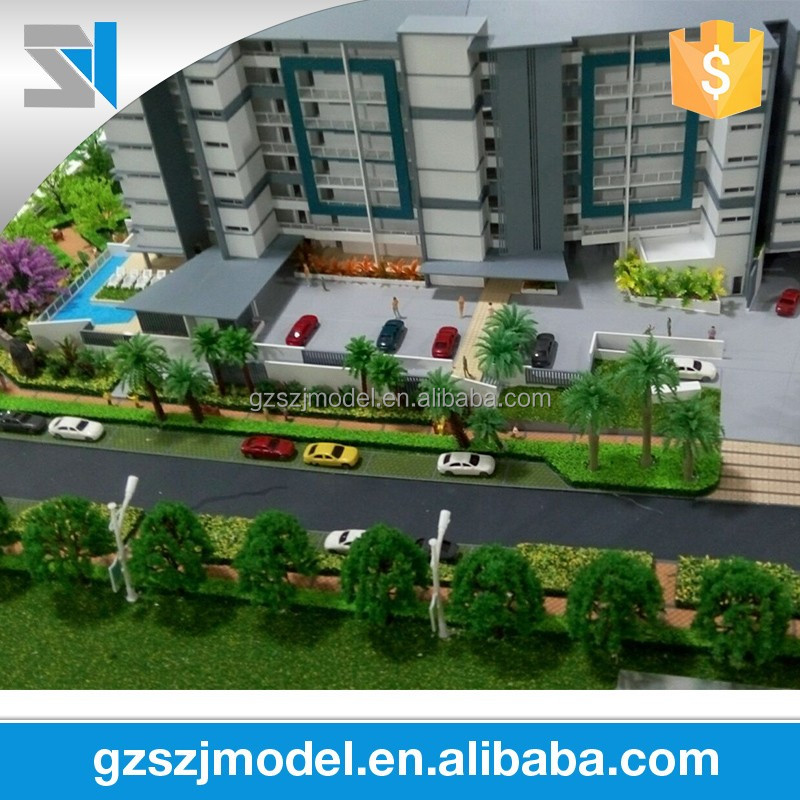 architectural scale models material with details of building