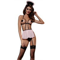 Sunspice Polyester halter back tie lingerie naughty adult women girl Japanese philippines halloween sexy maid costume