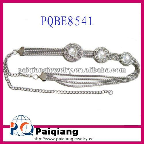 Wholesale Ladies Fashion Metal Chain Belts with big Stone